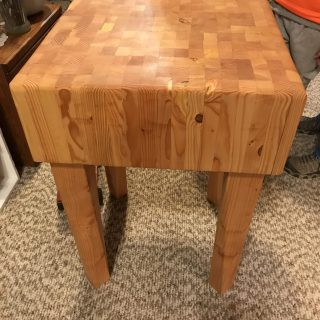 Butcher Block Table Ravenna Nebraska