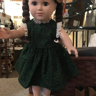 Green Doll Dress for American Girl Dolls Ravenna Nebraska Blackbird Store
