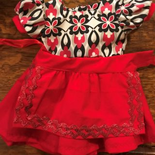 Red Dress and Apron for American Girl Dolls in Nebraska