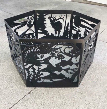 Mills Farm Nebraska Custom Built Fire Pit Fish Deer Hunting