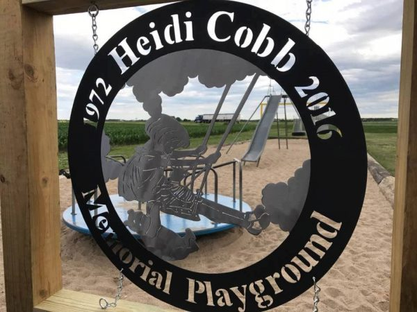 Custom Metal Signs for Home and Business in Ravenna Nebraska Mills Farm Nebraska Playground Metal Sign