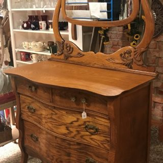 Antique Oak Dresser with Mirror Ravenna Nebraska Blackbird Store