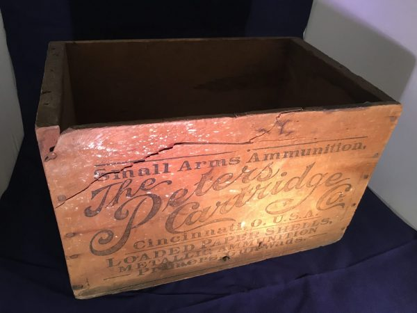 Wood Peters Shell Box, Wooden Vintage Hunting Ammo Boxes