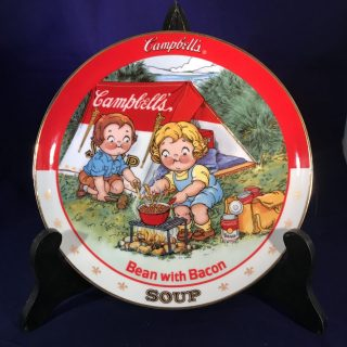 Campbell's Soup Plate: Bean with Bacon- A limited-edition plate from the collection entitled: The Campbell Kids.Plate No. D4459Comes with a Certificate of Authenticity.1994