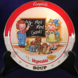 Campbell's Soup Plate: Vegetable Soup - A limited-edition plate from the collection entitled: The Campbell Kids.Plate No. D4459Comes with a Certificate of Authenticity.1994