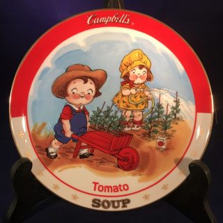 Campbells Soup Plate A limited-edition plate from the collection entitled: The Campbell Kids.Plate No. D4459Comes with a Certificate of Authenticity.1993