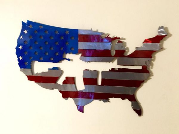 Rifle Gun Owner United States Plasma Cut Flag - Free Personalization & Shipping