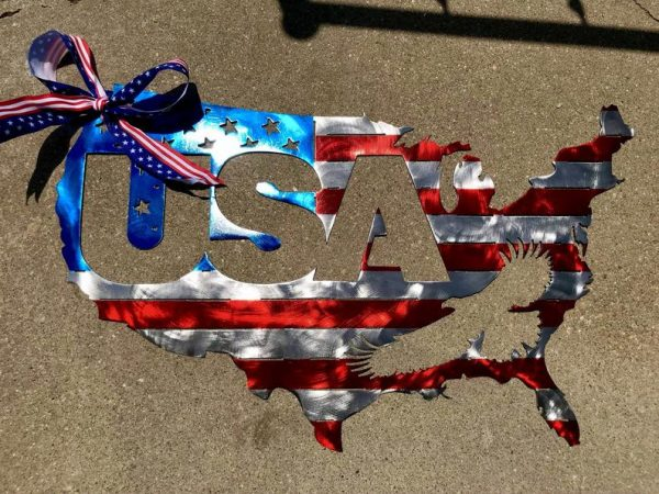 USA United States Plasma Cut Flag - Free Personalization & Shipping